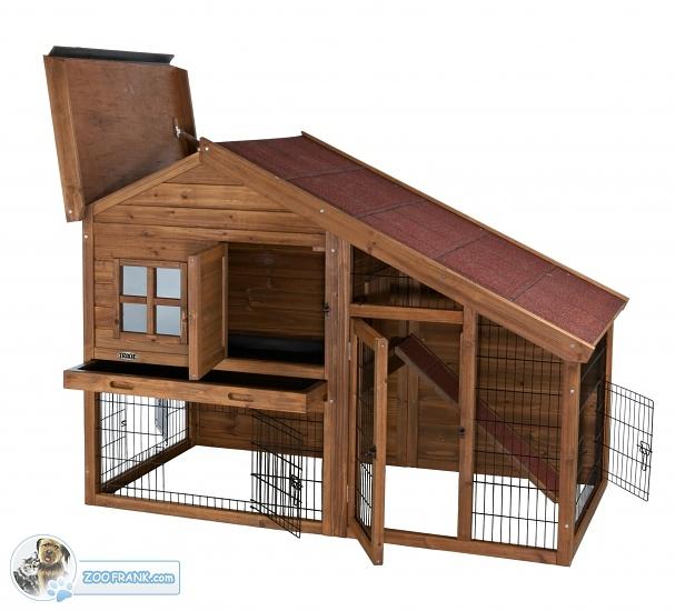 hasenstall mit freigehege k fige hasenst lle kaninchenst lle art nr 62335. Black Bedroom Furniture Sets. Home Design Ideas