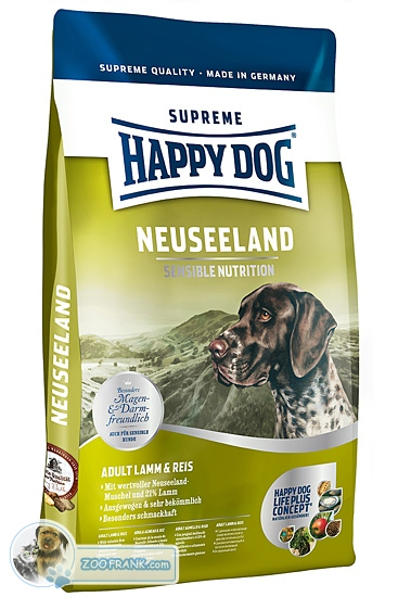 happy dog supreme neuseeland lamm reis hundefutter