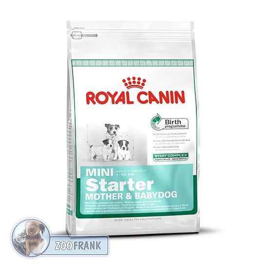 royal canin mini starter hundefutter trockenfutter. Black Bedroom Furniture Sets. Home Design Ideas