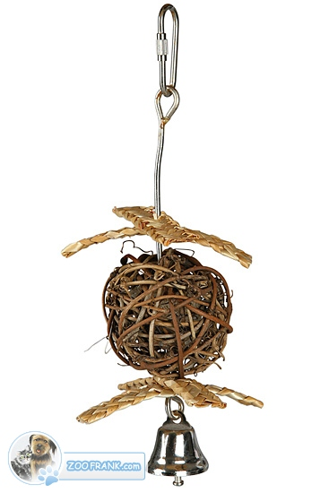 weidenball mit glocke alles f r das tier hunde katzen nager v gel art nr 58965. Black Bedroom Furniture Sets. Home Design Ideas