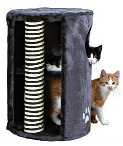 Katzen Spielturm aus Plüsch 58 cm hoch