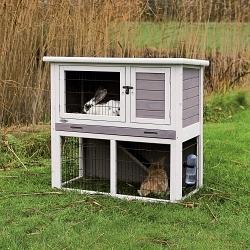 Kaninchenstall mit Freigehege