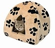 Katzen Kuschelhöhle Sheila mit Pfotenmotiv