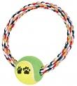 Spieltau Baumwollring bunt mit Tennisball