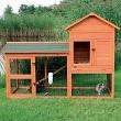 Kaninchenstall - Hasenstall mit Freigehege