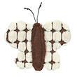 Schmetterling aus Plüsch mit Catnip 7 cm