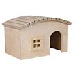 Holzhaus für Hamster, Meerschweinchen & Zwergkaninchen