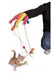 Spielhandschuh für Katzen mit Mäusen