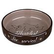 Keramiknapf - Thanks für Service! - für Perserkatzen