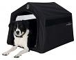 Hundekönig Hütte Hundehütte schwarz